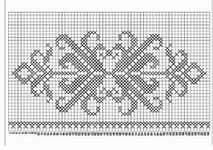 Hobilerim ve ben: 2019 Free Cross Stitch Charts, Filet Crochet Charts, Crochet Motifs, Cross Stitch Art, Beaded Cross Stitch, Cross Stitch Borders, Knitting Charts, Cross Stitch Flowers, Cross Stitch Designs