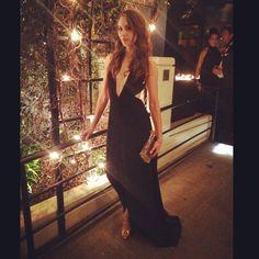 Troian Bellisario looks so elegant in this classy black dress. | Pretty Little…