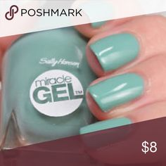 "Sally Hansen miracle gel Sally Hansen Miracle Gel Nail Polish ""150- LIP PALM""  Miracle Nail Gel provides a plump salon gel-look without the salon price.  Up to 7 days of intense color and shine.    Spectacular gel-like shine and plumpness.    Removes easily. Sephora Other"