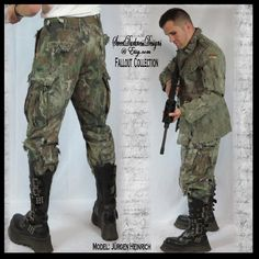 Post Apocalyptic PANTS MENS Army Issue Pants Mad Max Pants Fallout Pants Size SMALL Military Combat Zombie Wasteland by WastelandWearable by WastelandWearable on Etsy