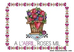 ABRIL Pre School, Rose, Cards, Meteorology, School, Sayings, Languages, Manualidades, Pink