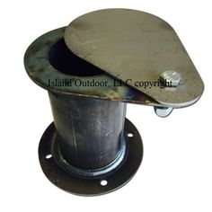 Our UDS Exhaust or air inlet assembly is for use on any smoker. Works great for Ugly Drum Smokers (UDS). Use 1 of these instead of costly ball valves! The square flange makes it easy to screw, rivet, or weld on your drum or firebox. Uds Smoker, Barrel Smoker, Smoker Fire Box, Bbq Smoker Trailer, Barbecue Smoker, Bbq Grill, Grilling, Grill Grates, 55 Gallon Drum Smoker