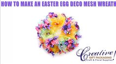 Easter Deco Mesh Tutorial - Spring Deco Mesh Wreath with Eggs