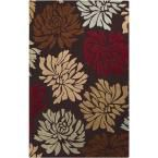 Centennial Burgundy 2 ft. x 3 ft. Indoor Area Rug, Red/Tan/Brown/Light Gray/Brown