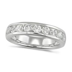 House of Williams Platinum Ladies Classic 1ct Diamond Channel Set Half Eternity Ring
