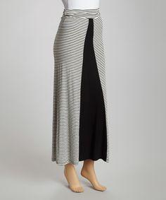 Ivory Stripe Maxi Skirt #zulily #zulilyfinds Inspiration - make me thinner or look wider?
