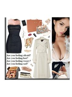 """""""I'm sorry you cannot lean on my shoulder, I already got too many burdens"""" by alxksandria ❤ liked on Polyvore featuring Dsquared2, Miu Miu, I Still Love You NYC, GET LOST, Bibhu Mohapatra, Cazal, Casadei, Johnny Loves Rosie, Bobbi Brown Cosmetics and Huda Beauty"""