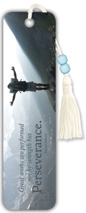 Inspirational - Perseverance - Beaded Bookmark