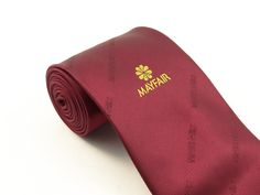 Mayfair Hotels Logo Necktie. Quality : Micro Fiber  Design Copy Rights Reserved. Sold By : Toss Marketing Pvt. Ltd.