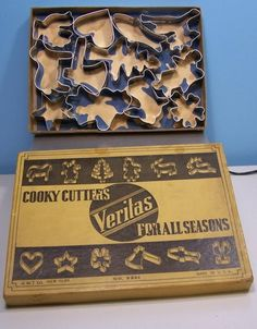 Veritas Cooky Cutters for All Seasons Made by G M T Co New York NY Vtg 1930'S AmericanTraditionCookieCutters.com