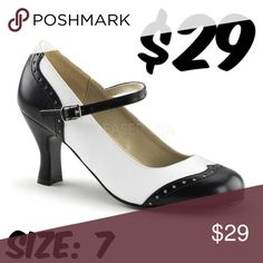 """Saddle Pin Up Shoes Mary Jane High Heels 50s Swing Saddle Pin Up Shoes Mary Jane High Heels 50s Swing ▶CONDITION: VERY GOOD. ALMOST NEW.  ▶USED AS STORE SAMPLE ONLY. ▶3"""" HEEL #C13 Shoes Heels"""