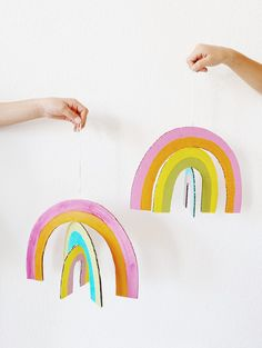 craft activities for kids creative ideas Toddler Crafts, Diy Crafts For Kids, Projects For Kids, Easy Crafts, Craft Projects, Arts And Crafts, Paper Crafts, Summer Crafts, Cardboard Crafts Kids