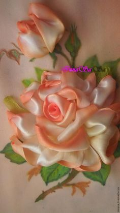 Embroider flower ribbons