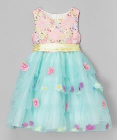 Look what I found on #zulily! Pink & Mint Flower Dress - Toddler & Girls by Shamila #zulilyfinds