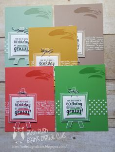 display stamper samples with the new painter's pallet stamp set Stamping Up Cards, Rubber Stamping, Stampin Up Catalog, Collor, Card Making Inspiration, Creative Cards, Scrapbook Cards, Paper Cutting, Palette