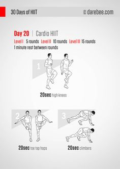 30 Days of HIIT - Day 20 - Don't Stop This Challenge! This program has been enriched with interval training targeting your abs and core. Cardio oriented HIIT workouts will help you get rid of the extra reserves in the midsection followed by ab work that will tighten up and work the muscles further. - If you like this pin, repin it and follow our boards :-)  #FastSimpleFitness - www.facebook.com/FastSimpleFitness