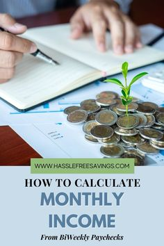 Almost every budgeting method out there requires that you write down your income and expenses to get started. How do you calculate your monthly income if you are on a biweekly paycheck schedule though? Some months you will have 2 paychecks and some months you will have 3. There are several options available for those that have biweekly paychecks. #howto #calculateincome #monthly #biweekly #moneymonitoring #budgeting #hasslefreesavings