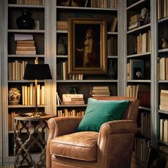 Minimalist living room is extremely important for your home. Because in the living room all the activities will starts in your pretty home. findthe elegance and crisp straight Minimalist Living Room Size. Home Library Rooms, Home Library Design, Home Office Design, House Design, Cozy Home Library, Library Study Room, Home Study Rooms, Library Corner, Small Home Libraries