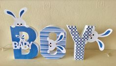 Baby boy alphabet word made with #cutting craftorium #3d #silhouette cameo 3