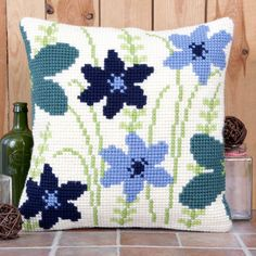 'Scatter' Cross Stitch Cushion Kit by Twilleys of Stamford.