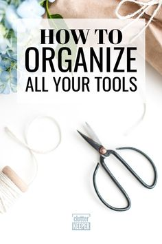 Finding ways to organize your tools can be tough. Discover some easy tool organization ideas and learn how you can transform the storage space in your garage. Home Organization Hacks, Garage Organization, Organizing Ideas, Knitting Needle Storage, Storage Solutions, Storage Ideas, Yarn Storage, Declutter Your Home, Storage Spaces