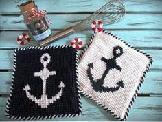Crochet Bikini, Handmade, Wall, Knitting And Crocheting, Easter Calendar, Tunisian Crochet, Blue And White, Hand Made