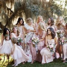 Major dose of couture envy with over a dozen options of bridesmaids dresses!! (Photo by Christian Oth)