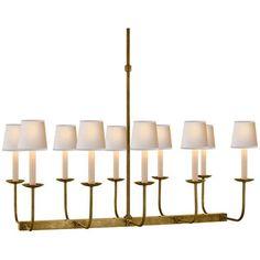 Visual Comfort Lighting E.F. Chapman Branched 10 Light Linear Pendant