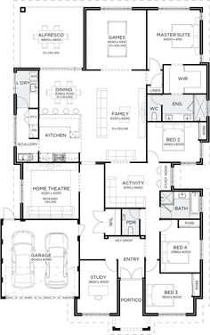 Love Drawing and Design? Finding A Career In Architecture - Drawing On Demand Best House Plans, Dream House Plans, House Floor Plans, The Plan, How To Plan, Bedroom House Plans, House Blueprints, Sims House, House Layouts