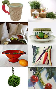Summer vegetables by Caroline B on Etsy--Pinned with TreasuryPin.com