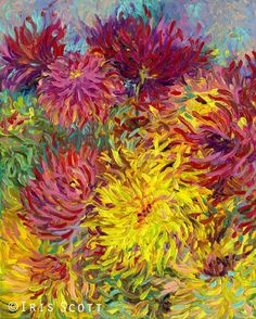 """In this excerpt from """"Painted Blossoms,"""" Iris Scott explains a fun and experimental way to master the art of mixing color for successful paintings. Finger Paint Art, Finger Art, Finger Painting, Art Floral, Acrylic Art, Art Techniques, Art Tutorials, Painting Inspiration, Iris"""