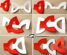 Easy NO-GLUE Red-and-White Garlands | krokotak