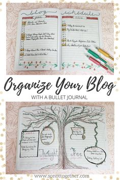 How to Organize Your Blog Using A Bullet Journal