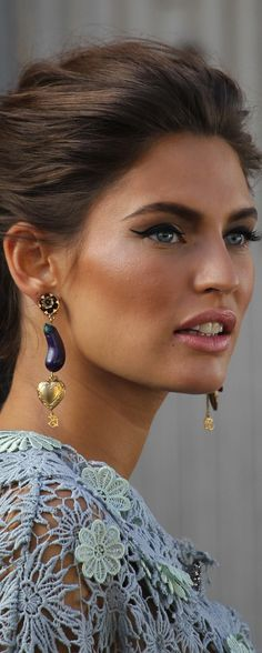 Bianca Balti and winged liner...
