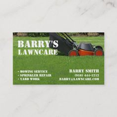 223 Best Lawn Care Business Cards