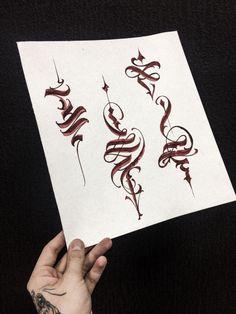 Calligraphy ornate
