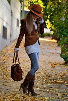 Look Marrón otoño