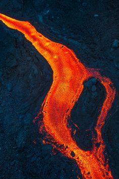 Photo of Al Fournaise volcano eruption.May 2015
