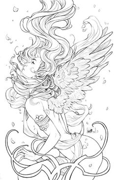 free printable fantasy pinup girl coloring pages - Google Search