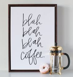 Blah Blah Coffee Canvas