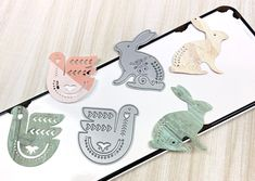 Coco and Reno Die Cutting, Paper Crafts, Place Card Holders, Stamp, Paper Craft Work, Stamps, Papercraft, Paper Crafting
