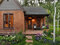 It would be ideal to have a brick cottage/hut connected to the barn (or very nearby) so that one could stay nearby during lambing season. Something smaller than this, even? Just a bathroom, bed, and kitchenette :)