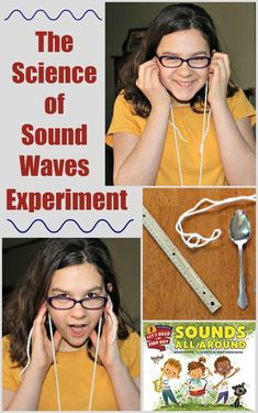 Sound experiments for kids – science of waves for elementary and middle school students. Easy science experiment that shows how waves travel and how sound can change – fun science activity using items from around the house! - Kids education and learning a Sound Science, Science Activities For Kids, Preschool Science, Teaching Science, Science For Kids, Science Education, Stem Activities, Science Labs, Primary Science