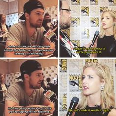 Stephen Amell & Emily Bett Rickards about #Olicity in #Season4 at #SDCC 2015 #CWSDCC