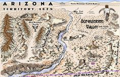 """The November Challenge at cartographersguild.com was to create an """"Old West"""" styled map, as well as required number of map objects that could be used to create custom old west maps in various mapping applications. I won with this entry!    This is completely hand-drawn, scanned and finished in Xara.    For this challenge, I created over 200 map objects. The mountains are actually """"modules"""" of mountain parts allowing users to build their own mountain ranges."""