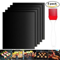 Grill Mat Set of 5- 100% Non-stick BBQ Grill & Baking Mat... https://www.amazon.com/dp/B0714GPD3X/ref=cm_sw_r_pi_dp_x_D-9rzb9SKP0AD