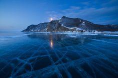 Frozen Lake at Twilight, Russia Smithsonian