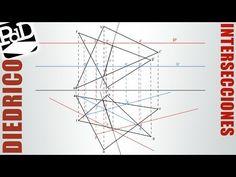 Intersección entre dos triángulos (Sistema Diédrico).
