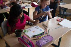 Ostseekinder malen ihr großes Bild   Schnappschüsse vom Malen mit den Ostseekindern (c) Frank Koebsch (2)