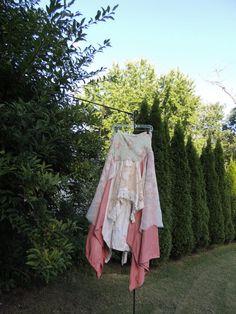 Closeout Sale Clearance Romantic Skirt / Beautiful Skirt / Bohemian Gypsy Skirt / Size M-L Skirt / Gypsy Skirt /  By Tattered Fx